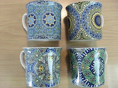 Set of 4 Fine Bone China Mugs