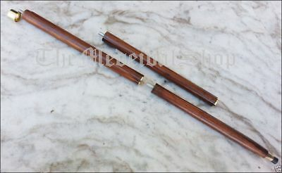 3 Fold Brown Wood Walking Stick Cane Only For Cane Handle ( wooden shaft) Gift