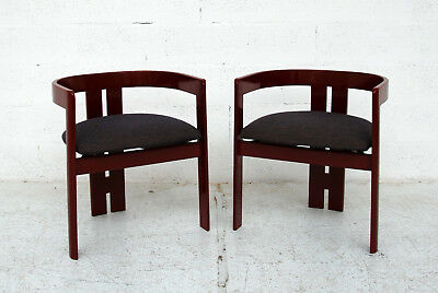 Tobia Scarpa for Gavina, pair fof Pigreco chairs, 60s