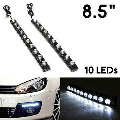 2x 10 LED Daytime Running Lights DRL Lamp For Skoda Citigo Fabia Felicia Octavia
