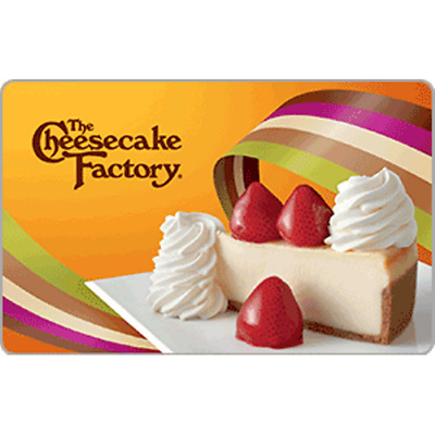 - $50 The Cheescake Factory  Gift Card