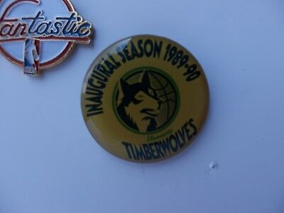 NBA MINNESOTA TIMBERWOLVES inaugural season old logo pins