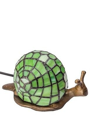 Victorian Trading Co Stained Glass Snail Lamp