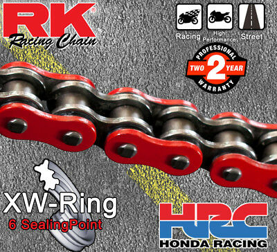 RK Red  XW-Ring  Drive Chain 530 P - 118 L for Kawasaki ZZR