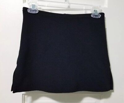 VINTAGE Girls Los Angeles Express Short Skorts Skirt sz 16 XL BLACK Thick   EUC