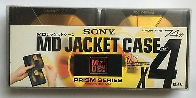 Sony MD 74 Prism Series Jacket Case Minidisc - Sealed