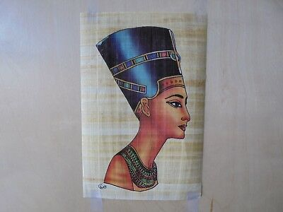 """Egyptian Papyrus Original Hand Painted Made in Egypt 11.5'' X 8"""" FREE SHIPPING"""