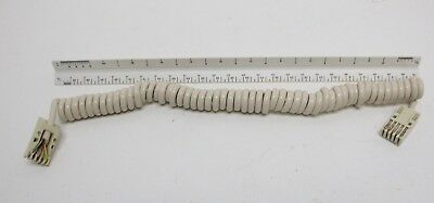 New Telephone Handset Cord - 6' Ivory Colored Western Electric Trimline