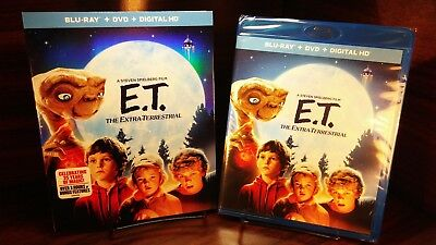 E.T The Extra-Terrestrial (Blu-ray/DVD+HD Digital)w/Slipcover-NEW-Free Shipping