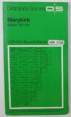 1978 old vintage OS Ordnance Survey Second Series 1:25000 Map Marykirk NO 66