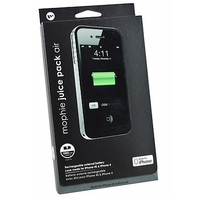 100% Genuine MOPHIE Juice Pack Air 1500mAh Battery Case Cover For iPhone 4/4s