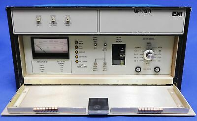 ENI MKS MRI 2000 Linear Pulse Amplifier 15 - 64 MHz RF Power Amplifier