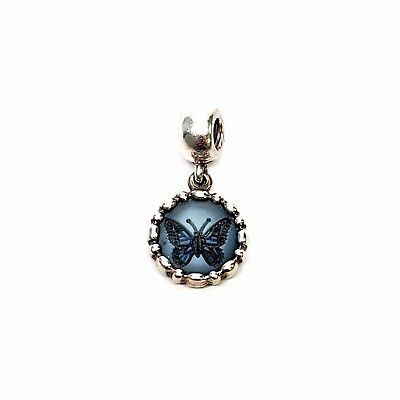 Authentic Pandora Sterling Silver Butterfly Cameo Charm Dangle 790865CAM Retired