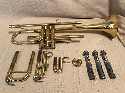 Yamaha Advantage YTR-200AD Trumpet with Bach 7C Mouthpiece and Case—Plays Great