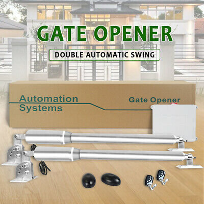 Double Swing Automatic Gate Opener Kit 600KG Stainless Steel IP66 2.5M Photocell