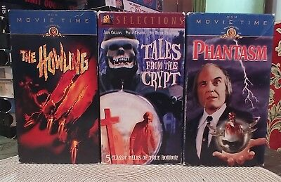 Vintage Horror Lot Vhs The Howling/phantasm/tales From The Crypt