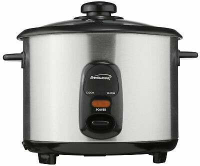 Brentwood Ts-15 8 Cup Stainless Steel Rice Cooker