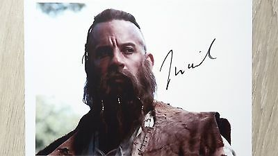 Autograph Vin Diesel HAND SIGNED 10x8 (A4) COA UACC The last witch hunter