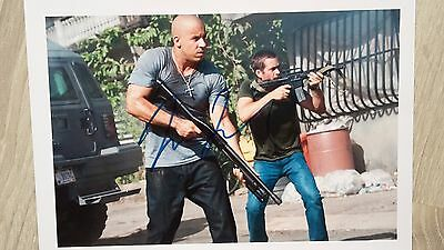 Autograph Vin Diesel HAND SIGNED 10x8 (A4) COA UACC Fast and Furious Genuine