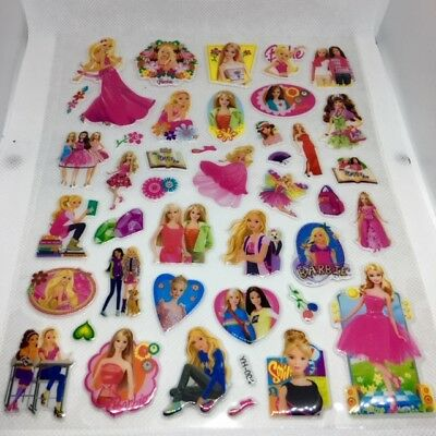 YH-004 3D BARBIE Bubble Reward Sticker Decal Label Children Kid Teacher Free P&P