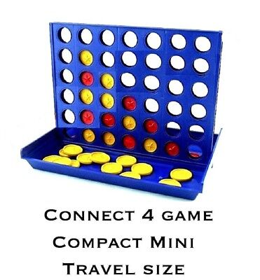 2 PACK Mini Connect Four 4 In A Row Line Board Game Travel Family Fun Trips