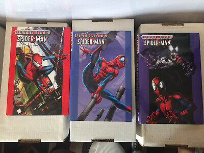 MARVEL ULTIMATE SPIDER-MAN HC 1 2 3 – Lot – Excellent Condition!