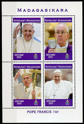 Madagascar 2019 MNH Pope Francis 4v M/S Popes Religious People Stamps