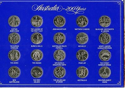 Australia commemorative medal collection in presentation pack.