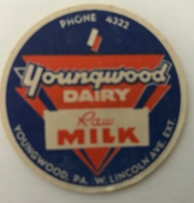 Youngwood Dairy - Youngwood Pa - Raw Milk - Milk Cap - Phone 4322