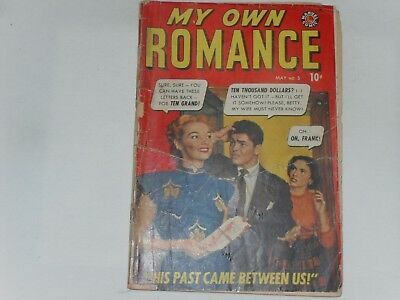 My Own Romance  #5  May 1949  Atlas / Marvel Romance Comic  Awful Condition