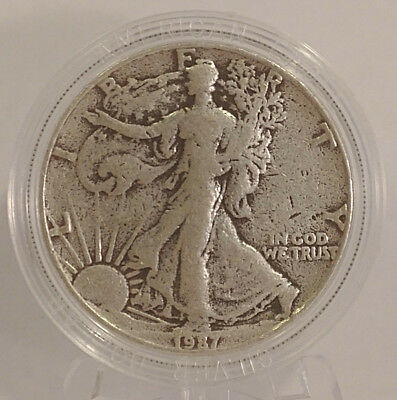 1987 ASE American Silver Eagle UNIQUE 1 oz 999 Fine USA Coin in Capsule