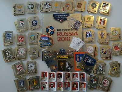 Panini Wc Wm Russia 2018 Album Gold Swiss + Set Complete+ Coca Cola Set+ Packets