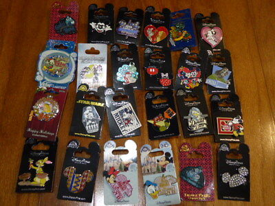 AUTHENTIC Disney Trading Pins Lot 25 No Duplicates New On Cards F