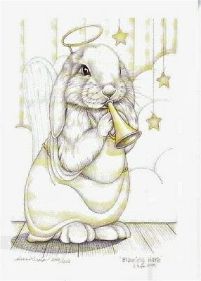 """print Sue Rupp Bunny /""""Hare Twirling/"""" s//n lim ed"""