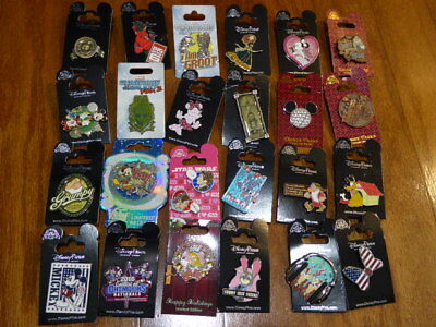 AUTHENTIC Disney Trading Pins Lot 25 No Duplicates New On Cards J