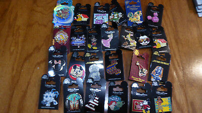 AUTHENTIC Disney Trading Pins Lot 25 No Duplicates New On Cards P