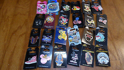 AUTHENTIC Disney Trading Pins Lot 25 No Duplicates New On Cards U