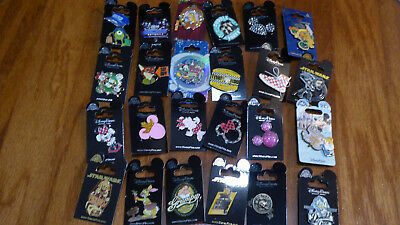 AUTHENTIC Disney Trading Pins Lot 25 No Duplicates New On Cards W
