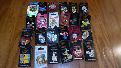 AUTHENTIC Disney Trading Pins Lot 25 No Duplicates New On Cards Y