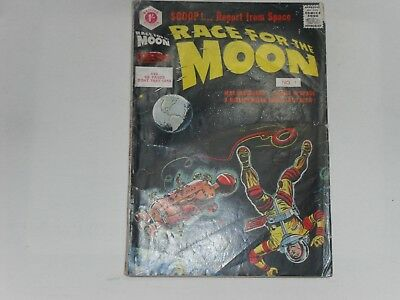 Race For The Moon #1  Uk Edition  Strato Pubs  . 68 Pages  1/-  Very  Good