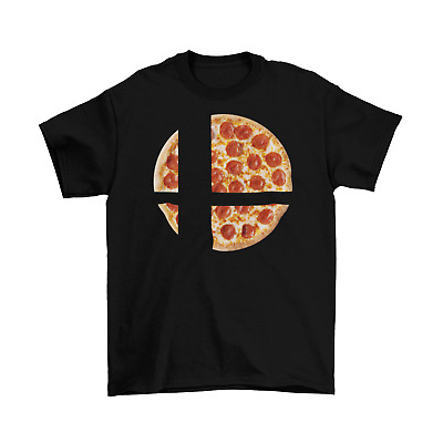 Super Smash Bros Pizza T-Shirt Unisex Adult Funny Sizes Food Ultimate Game New