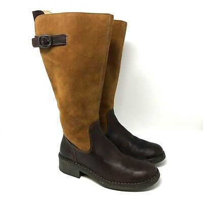 Born Womens Brown Suede Leather Knee High Riding Fashion Boots Size 6.5