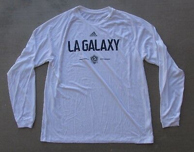 buy online 12484 6729a ADIDAS LA GALAXY Major League Soccer Mls Team White Long Sleeve Shirt Xlarge