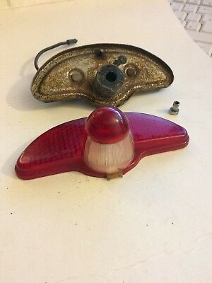 Vintage Lucas L590 Rear Lamp Tail Light Lens Motorcycle Autocycle BSA Raleigh