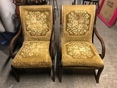 Pair Of Antique Vintage Chairs Edwardian/Victorian Reproduction?