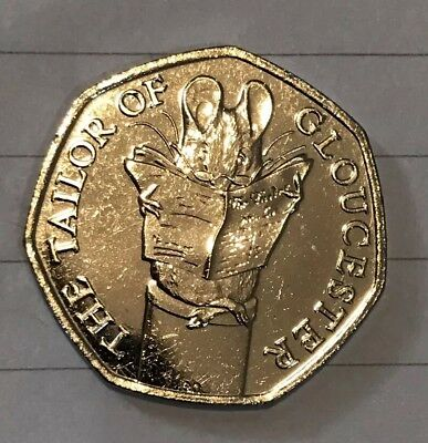 The Tailor Of Gloucester 50p New Uncirculated Beatrix Potter 2018