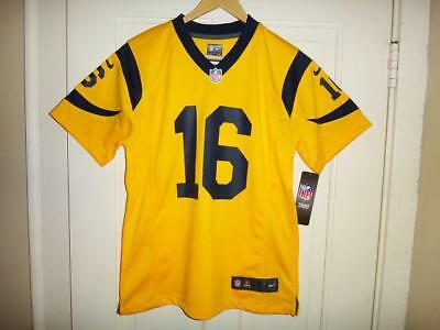 12b9e054e Youth Nike Jared Goff  16 Los Angeles Rams Color Rush Gold Game Jersey M (