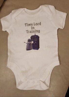 Dr Who Timelord Babygrow Age 3-6 Months