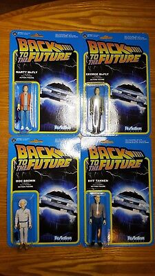 Back To The Future Action Figures Funko ReAction Complete Set Of 4
