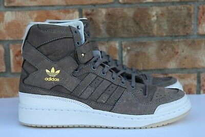 in stock 41a36 e46c8 Mens Adidas Forum Hi Crafted Pack Charles F Stead Cleaning Kit Brown BW1253